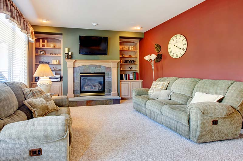 Cozy Living Room with Carpet Flooring