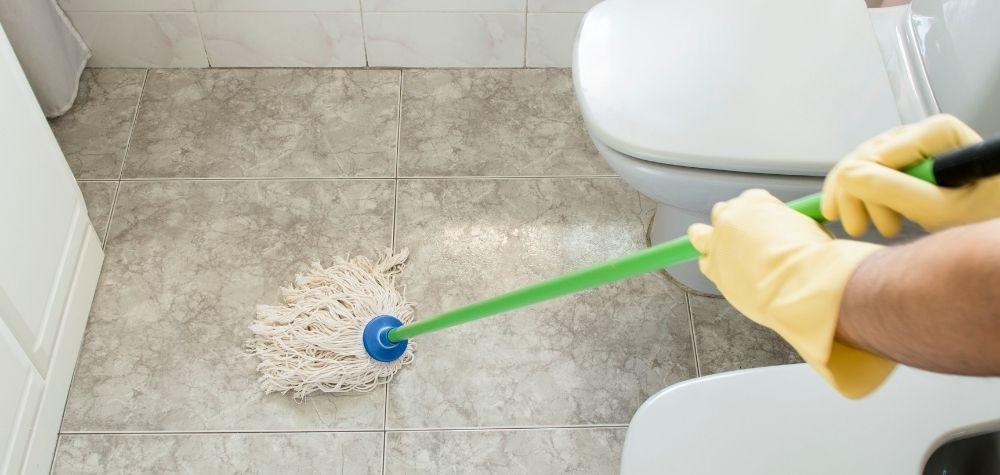 How to Clean Bathroom Floors